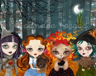 Oz Girls - 8 x 12 inches Art Print by Sandra Vargas