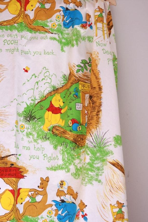 Vintage winnie the pooh drapes nursery decor