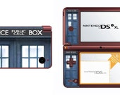 Dr. Who Doctor Police Call Box Blue Tardis Nintendo DS DSi 3DS XL Lite vinyl skin wrap Free Shipping
