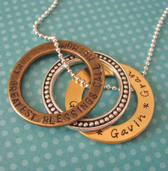custom eternity ring necklace - my greatest blessings call me mom