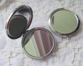 4 Compact Mirror Blanks Metal, Round and Double Sided (DP523)
