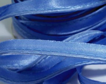 15 Yards Wholesale Lot Satin Bias Piping Edging 11mm Wide Sky Blue