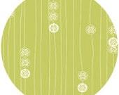 Jay-Cyn Designs for Birch Organic Fabrics, Eiko, Stamp Stripe Grass, 1 YARD