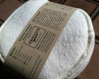 Super Absorbent Nursing Pads Made With Unbleached Organic Bamboo Fleece and Zorb - 2 pairs Plus Bonus Wash Bag