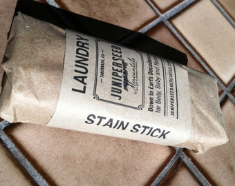 Small 1-2 ounce Stain Stick - Naturally Gentle Biodegradable Laundry and Stain Bar - Sweet Orange and Thyme - Great for Dishes Too