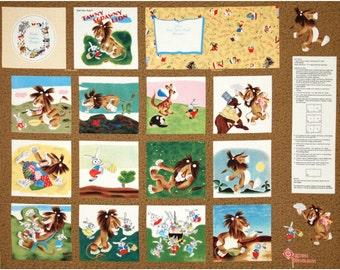 Tawny Scrawny Lion Golden Book Fabric Panel