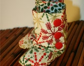 Clearance!! Snowflake Bootsies baby boots