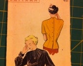 Vintage Butterick Blouse Pattern from the 50's
