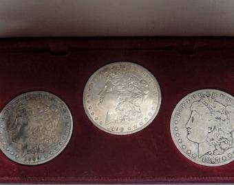 Morgan  3 Dollar Collection  -1897 O-1898 P- 1899 O