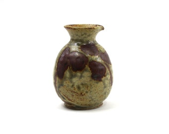 1960s Art Pottery Carafe, Natural Earth Colors