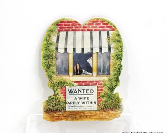 1920s Marriage Proposal Greeting Card | Wanted: A Wife Apply Within