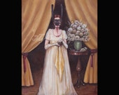 The Scold's Bridle Print, Folk Tale Art, Fairy Tale Art, Storybook Art, Mask, Torture, Women's History, Victorian Themed Art, Shrew