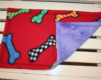 Kneading Blankie for Dogs - Big Bones and Purple