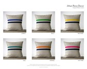 Signature Navy Striped Pillow - 16x16 - Modern Home Decor by JillianReneDecor - Colorful Stripes (More Colors)