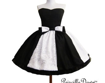 Black and White Alternative Wedding Gown Lolita Prom Cupcake Dress and petticoat -------CUSTOM in YOUR size Short Wedding Dress