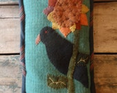 Crow and Sunflower Pillow