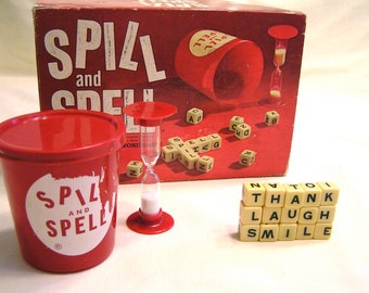 Vintage Spill and Spell Word Game