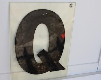 Plexiglass Letter Q