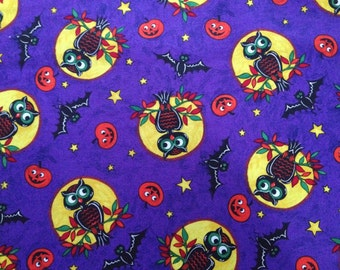 Halloween Owl Fabric By The Yard