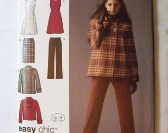 Simplicity Pattern 0502 for Misses Pants Skirt Jacket or Lined Jacket in Misses Sizes 10 to 18
