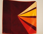 Fall fashion vintage 60s modernist style small square scarf. Made by Vera. - VezaVe
