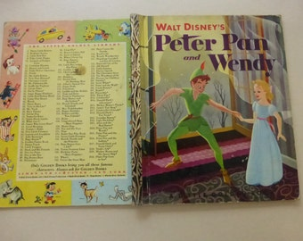 Vintage Walt Disney's Peter Pan and Wendy First Edition