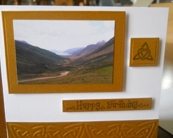 Celtic scottish picture  birthday card