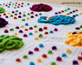 Crochet Pattern PDF, Instant Digital Download, Rainbow Owls Baby Blanket - Photography Prop