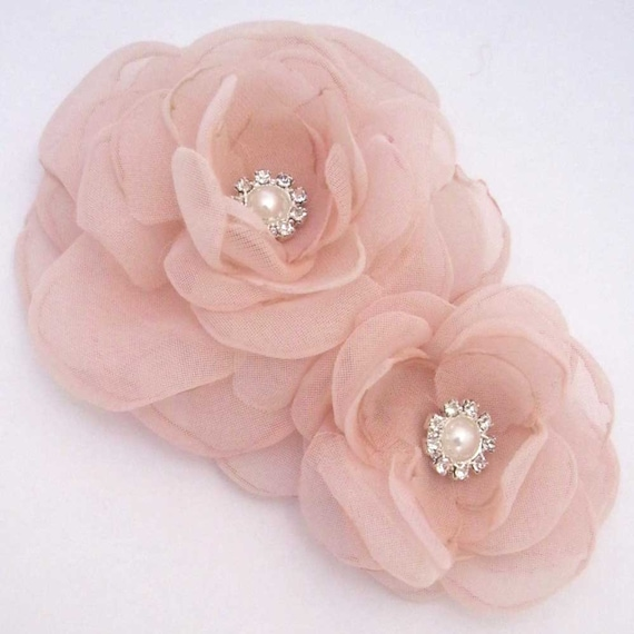 Wedding hair flower set, Blush Pink Rose hair pin, set  G183- bridal hair accessory