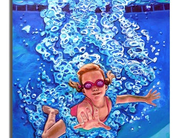 Gallery Quality Giclee on Signed Archival Paper-The Plunge no.6, 14x18in. Stillman,