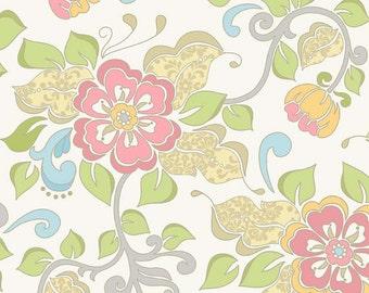 Riley Blake Designs - Priscilla Collection by Lila Tueller Designs - Main in White
