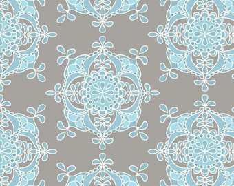 Riley Blake Designs - Priscilla Collection by Lila Tueller Designs - Wallpaper in Blue