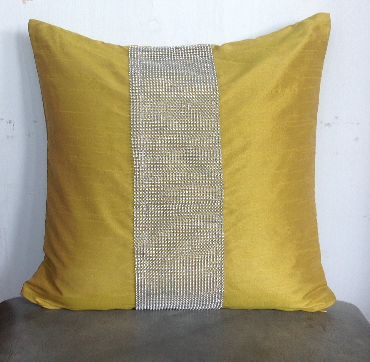Silk Yellow Pillows Silk Sofa Pillows Silk throw by Snazzyliving