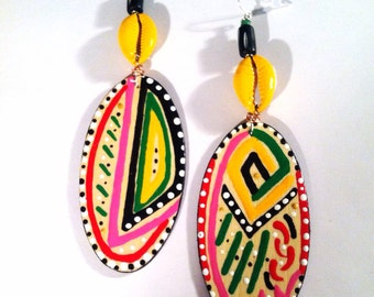 Colorful Afrocentric Earrings