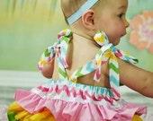 Chevron Ruffle Romper - Ruffle Romper - Chevron Girl -Toddler Romper - Ruffle Butt - Sunsuit - girl clothing