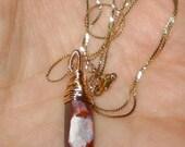 Handwrapped Australian Boulder Opal Necklace