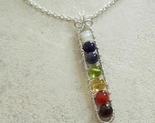 Gemstones Chakra balancing pendant