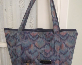 Purse Blue Bargello Tapestry