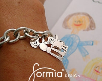 Classic charm bracelet designed by your child