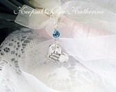 Live Love Laugh Bridal Bouquet Charm, Brides Good Luck Charm, Something Blue