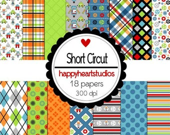 Digital Scrapbook Short Circut-INSTANT DOWNLOAD