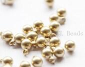 50pcs Raw Brass Drops - Round 6x4mm (504C-S-226)