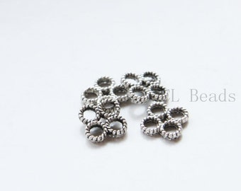 80pcs Oxidized Silver Tone Base Metal Links-8mm (8851Y-E-8A)