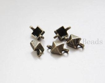 20pcs Antique Brass Tone Base Metal Links - 13x7mm (24353Y-C-421)