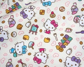 Hello Kitty Fabric Hello kitty and sweets 100 cm by 106 cm or 39 by 42 inches ONE METER