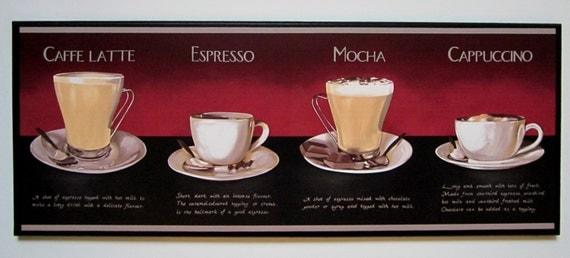 Items Similar To Coffee Mocha Espresso Latte Cappuccino