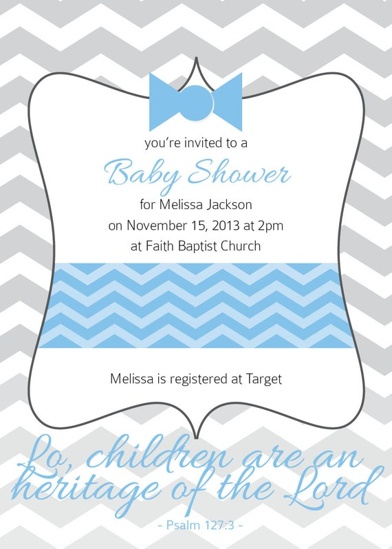items similar to boy baby shower chevron bowtie with bible verse 20
