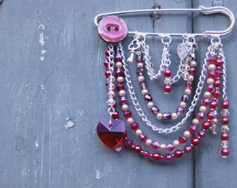Ruby Kilt Pin Brooch