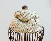 Herringbone  Cowl Crochet Pattern, Instant Download, Circle Scarf  PDF  Pattern, Infinity Scarf Pattern - beadedwire