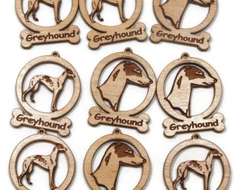 9 Mini Greyhound Dog Ornaments